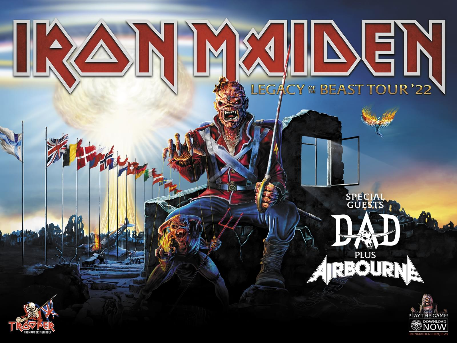 Iron Maiden. Legacy of the beast tour 2022.