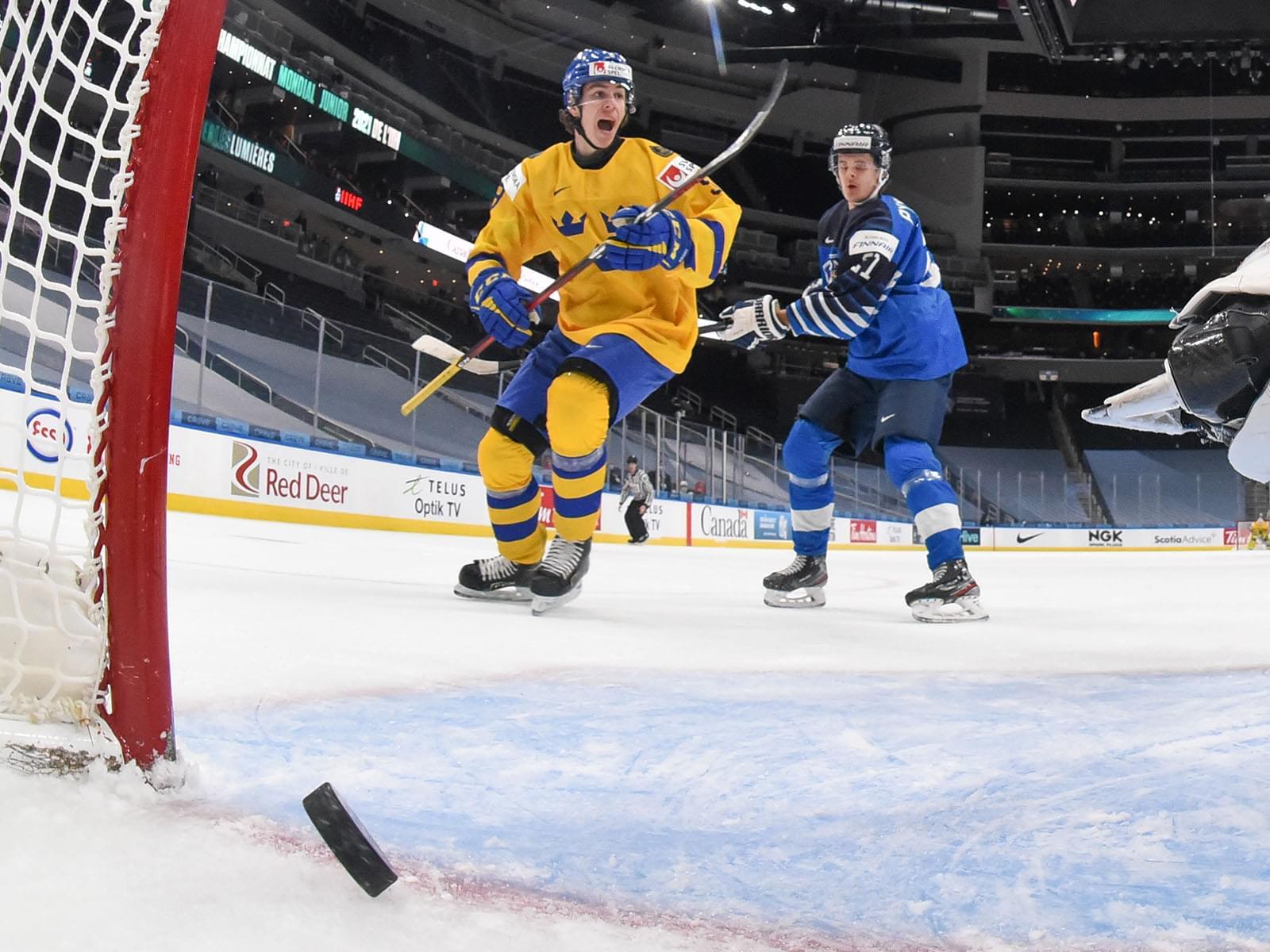 Ice hockey game.