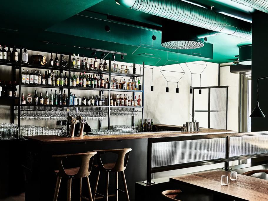 The bar at Bruk.