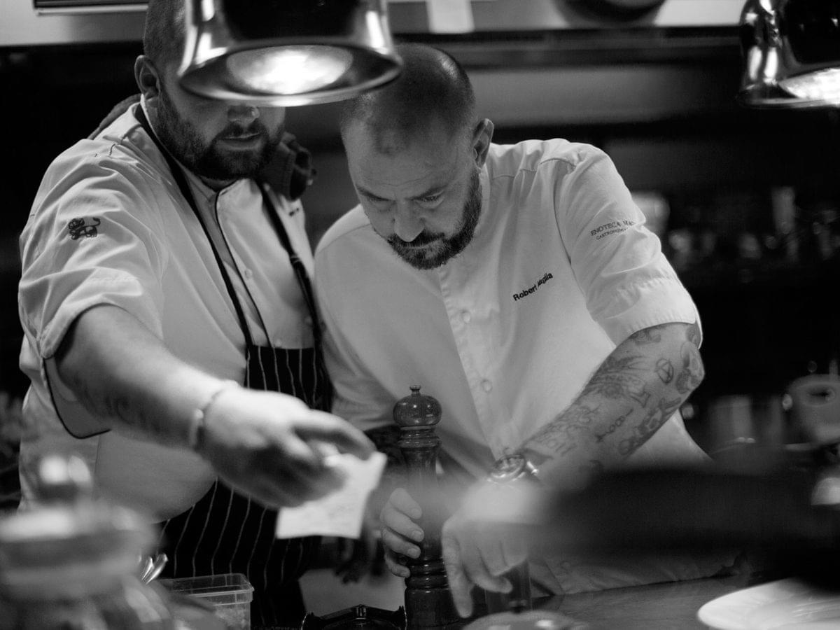 Chefs at Enoteca Maglia.