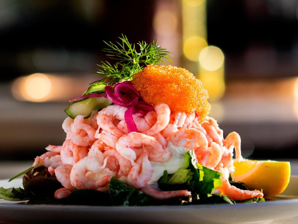 Shrimp sandwich from Heaven 23