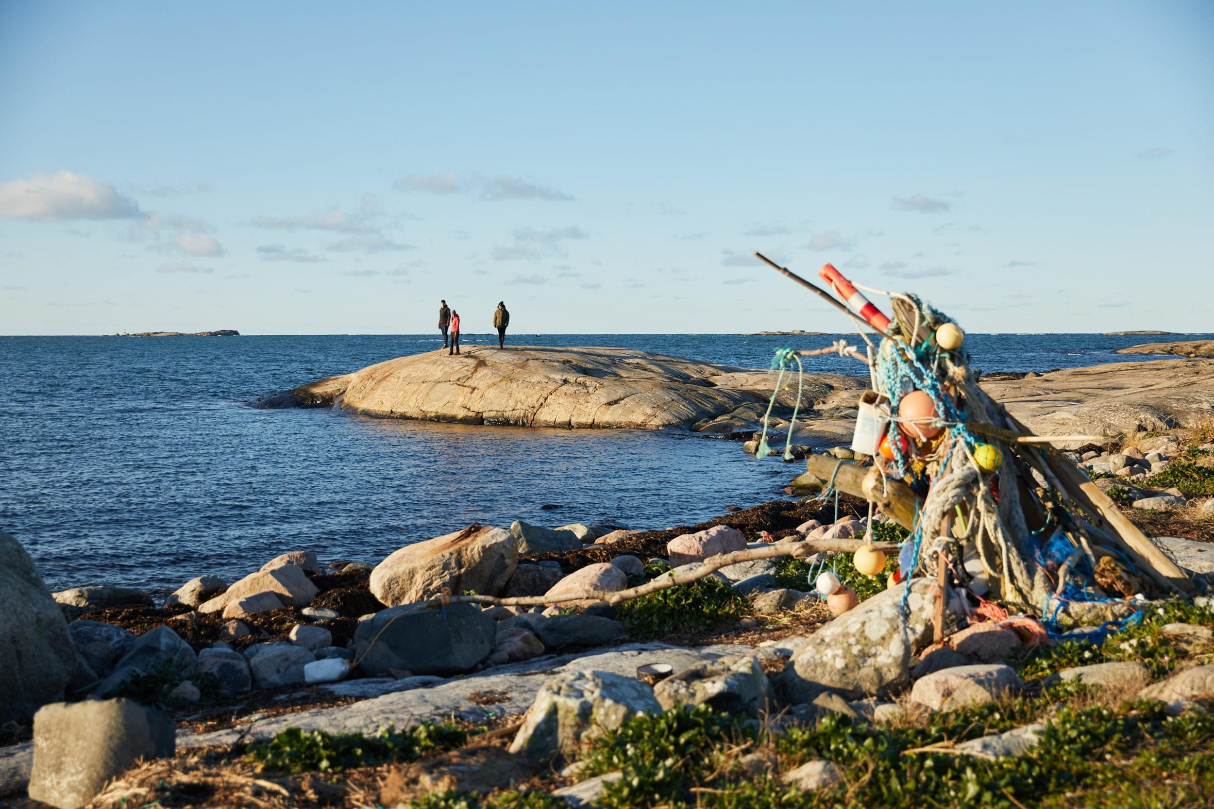 Skärgårdsleden hiking trail. Sea view.