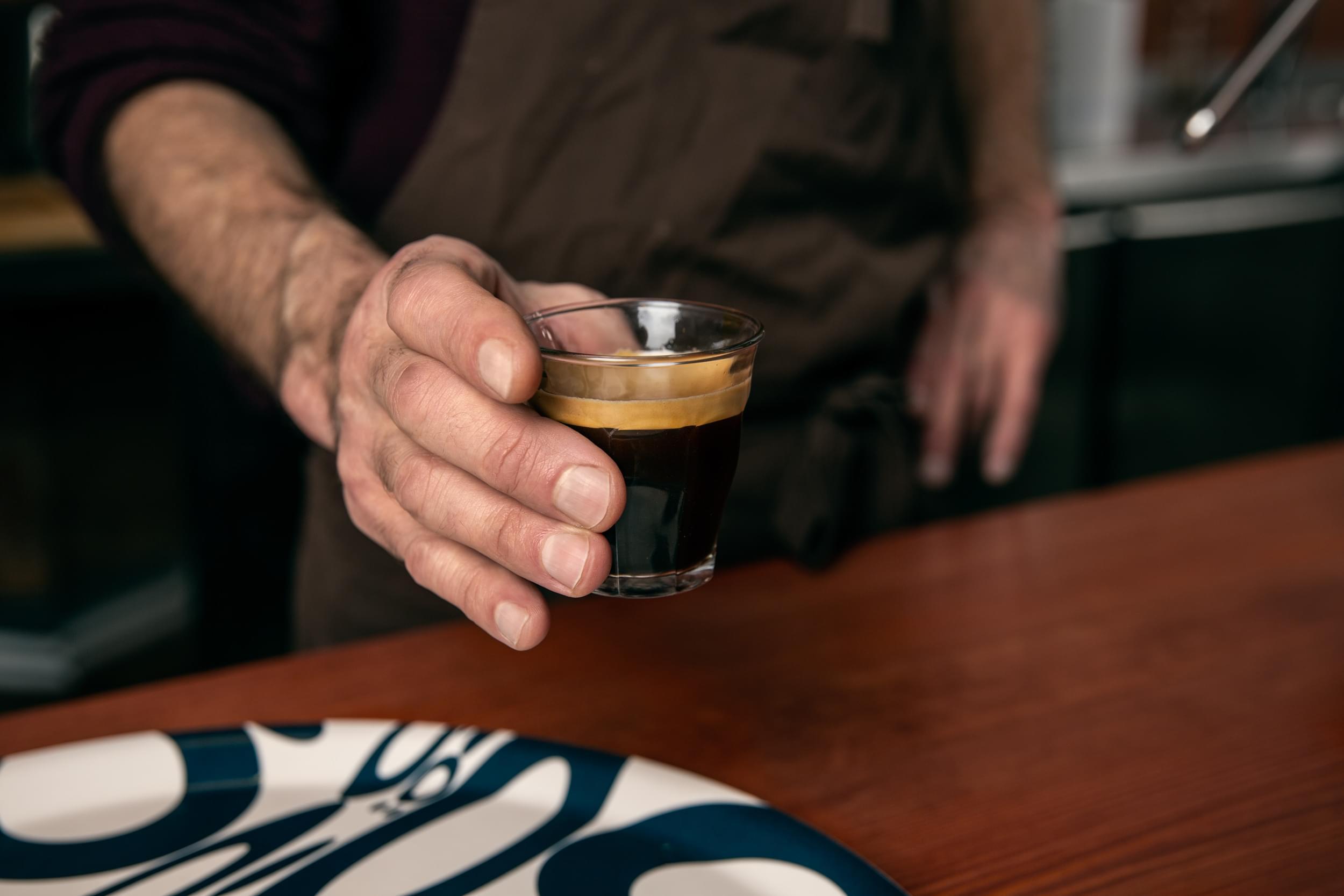 An espresso to go