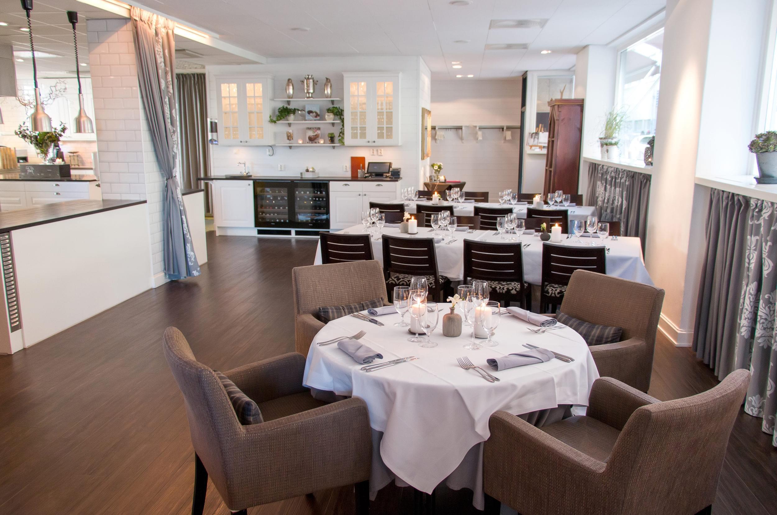 Inside, table setting